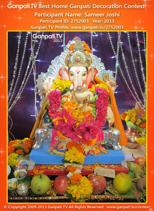 Sameer Joshi Ganpati Decoration