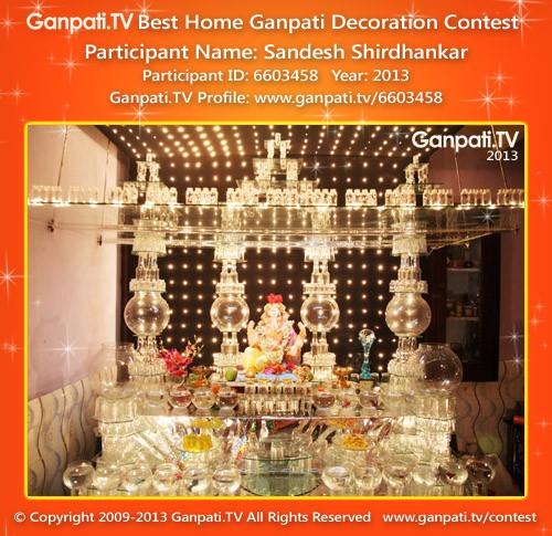 Sandesh Shirdhankar Ganpati Decoration