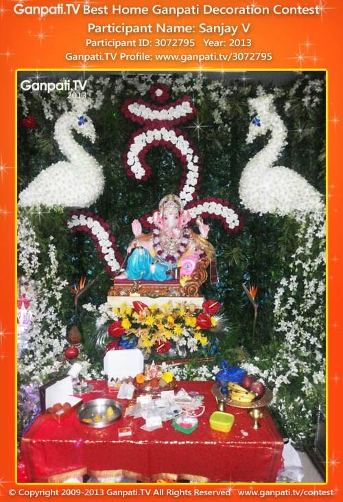 Sanjay V Ganpati Decoration