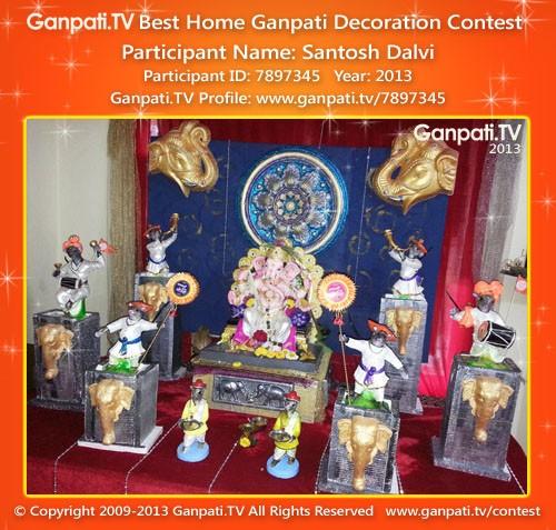 Santosh Dalvi Ganpati Decoration