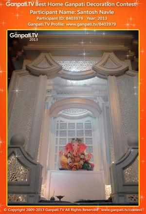 Santosh Navle Home Ganpati Picture