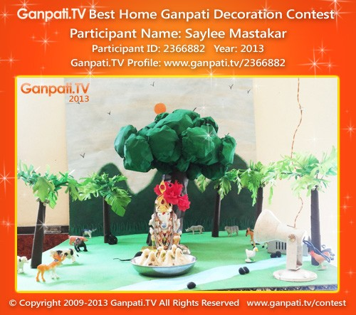 Saylee Mastakar Ganpati Decoration