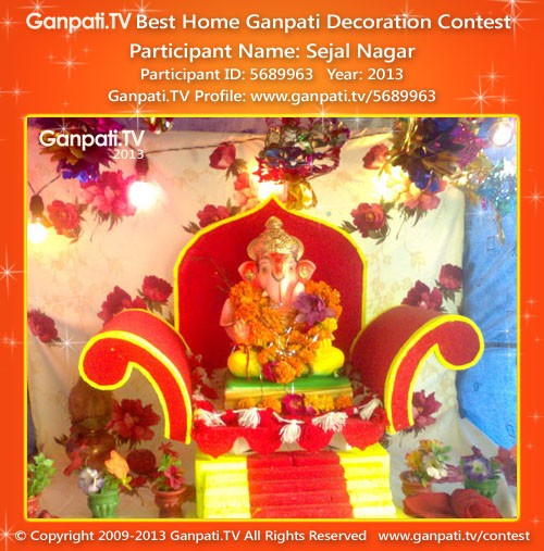 Sejal Nagar Ganpati Decoration