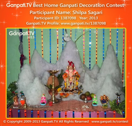 Shilpa Sagari Ganpati Decoration
