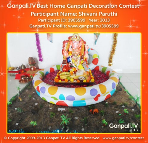 Shivani Paruthi Ganpati Decoration