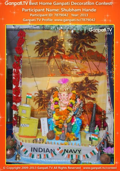Shubham Hande Ganpati Decoration