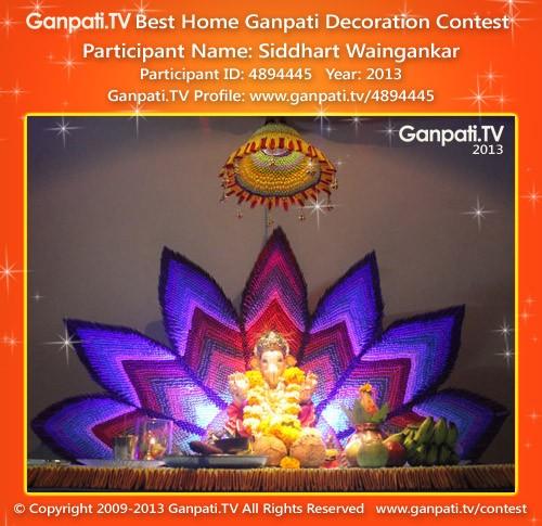 Siddharth Waingankar Ganpati Decoration