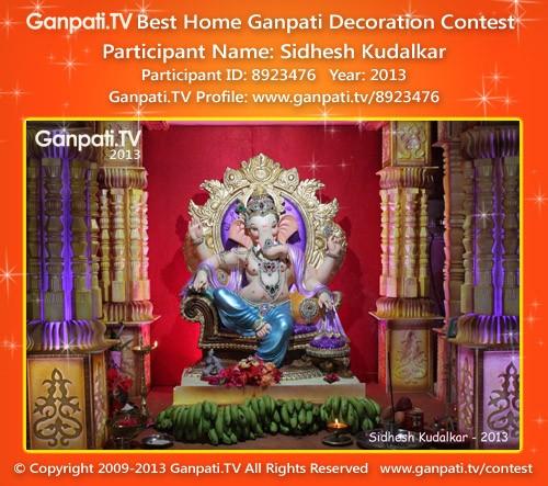 Sidhesh Kudalkar Ganpati Decoration