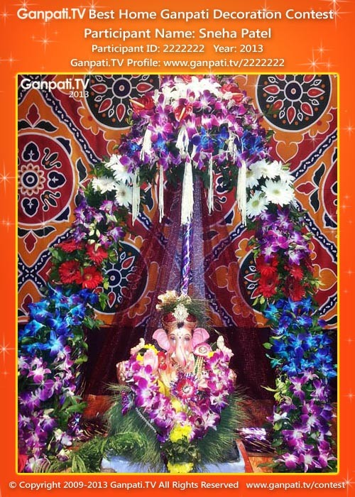 Sneha Patel Ganpati Decoration