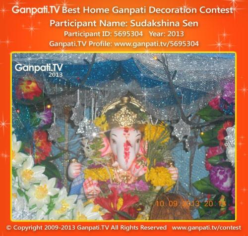 Sudakshina Sen Ganpati Decoration