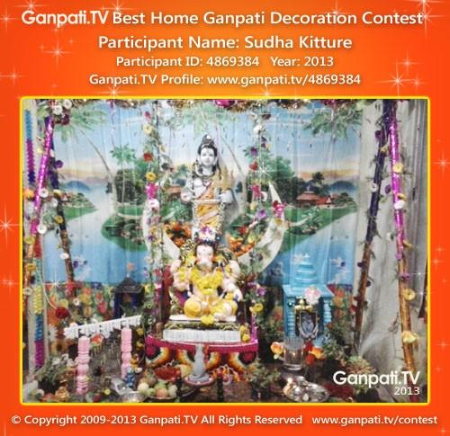 Sudha Kitture Ganpati Decoration