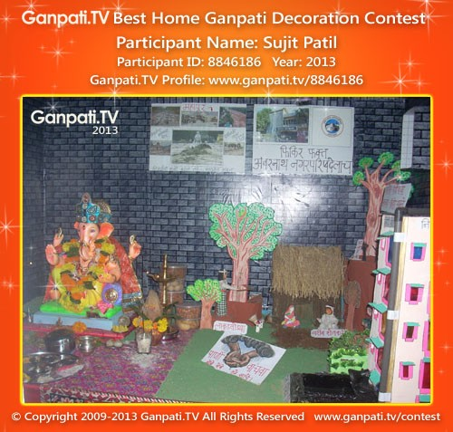 Sujit Patil Ganpati Decoration
