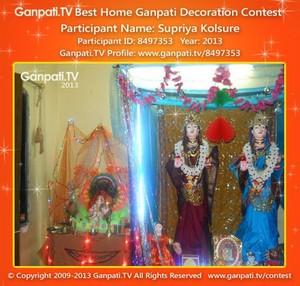 Supriya Kolsure Home Ganpati Picture