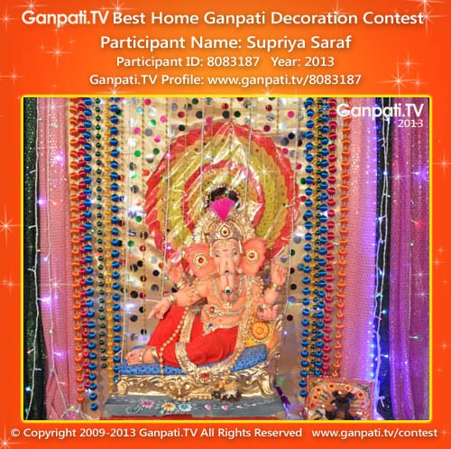 Supriya Saraf Ganpati Decoration