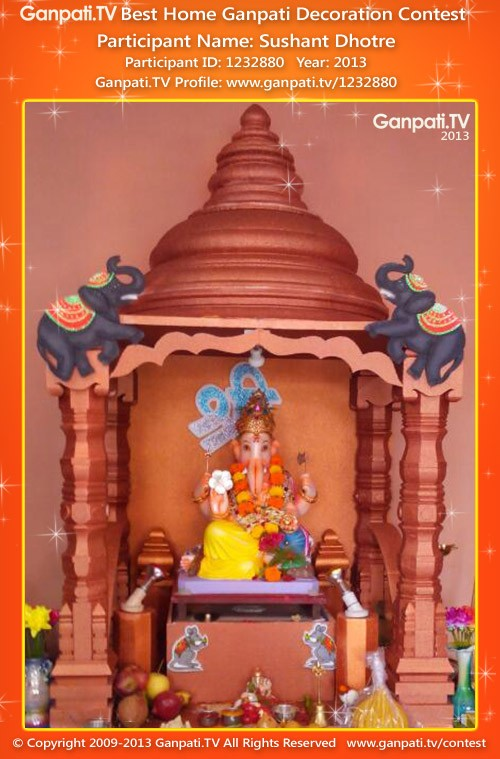 Sushant Dhotre Ganpati Decoration
