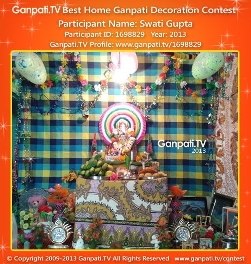 Swati Gupta Ganpati Decoration