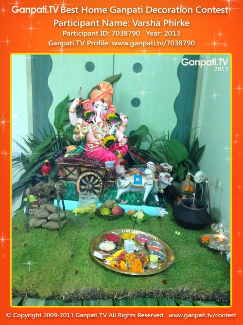 Varsha Phirke Ganpati Decoration