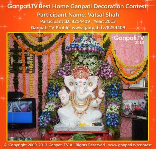 Vatsal Shah Ganpati Decoration