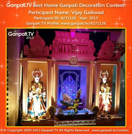 Vijay Gaikwad Ganpati Decoration