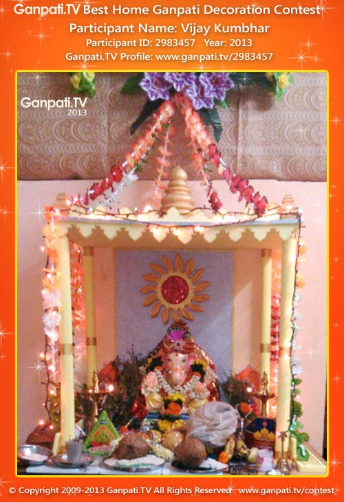 Thermocol Temple Ganpati Tv