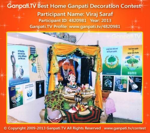 Viraj Saraf Ganpati Decoration
