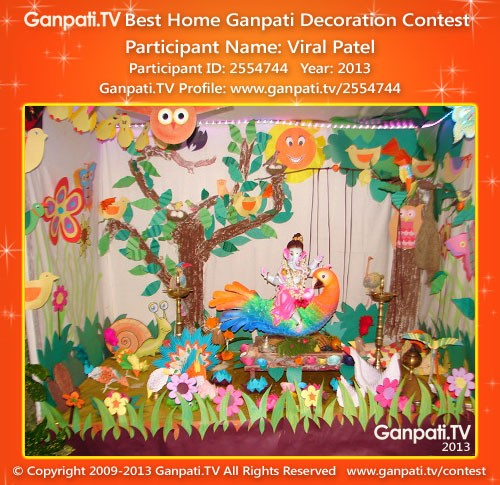 Viral Patel Ganpati Decoration
