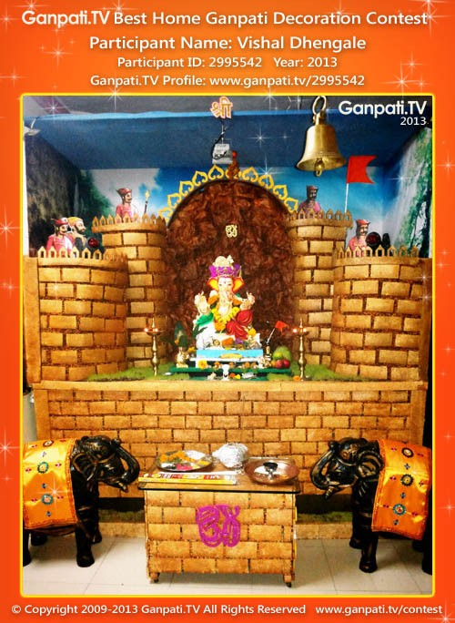 Amazing This Is A Picture Of My Home Ganpati From Year 2013. Decoration ...
