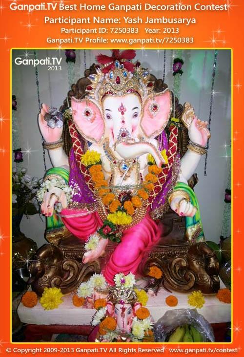 Yash Jambusarya Ganpati Decoration