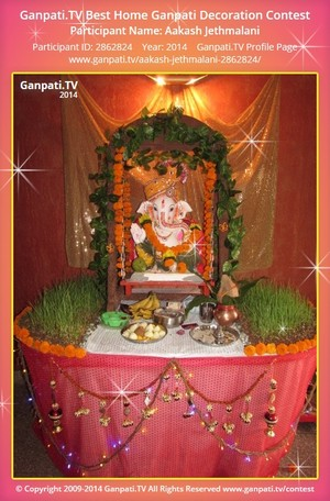 Aakash Jethmalani Ganpati Decoration