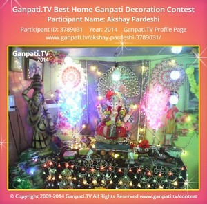 Akshay Pardeshi Home Ganpati Picture