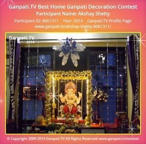 Akshay Shetty Ganpati Decoration