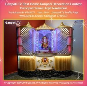 Arpit Nawkarkar Ganpati Decoration