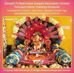 Chaitanya Sonawane Ganpati Decoration