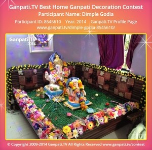 Dimple Godia Ganpati Decoration
