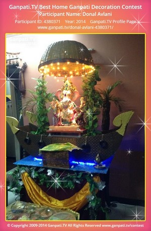 Donal Avlani Ganpati Decoration