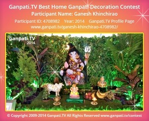 Ganesh Khinchirao Ganpati Decoration