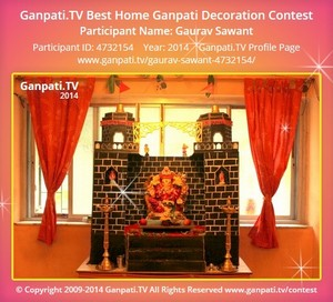 Gaurav Sawant Ganpati Decoration