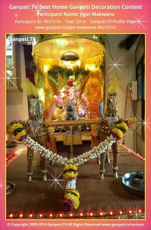 Jigar Makwana Ganpati Decoration