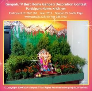 Krish Iyer Ganpati Decoration