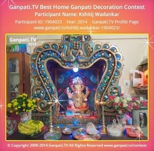 Kshitij Wadankar Ganpati Decoration