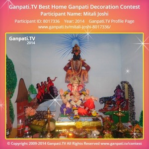 Mitali Joshi Ganpati Decoration