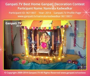 Namrata Kadwadkar Ganpati Decoration