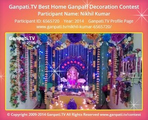 Nikhil Kumar Ganpati Decoration
