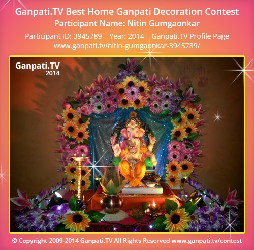Nitin gumgaonkar ganpati tv for Artificial flowers decoration for ganpati