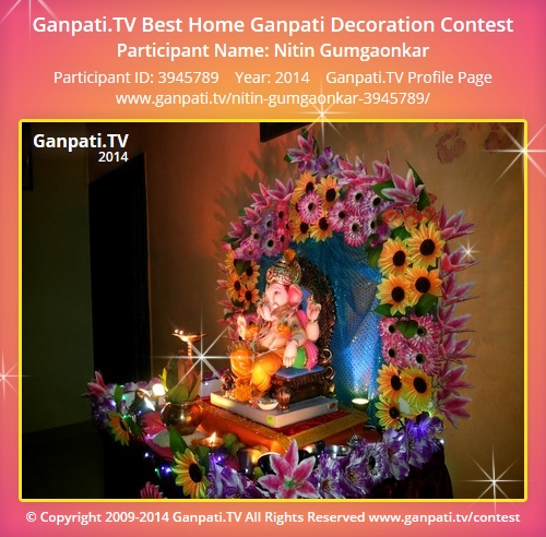 Nitin gumgaonkar ganpati tv for Artificial flower decoration for ganpati