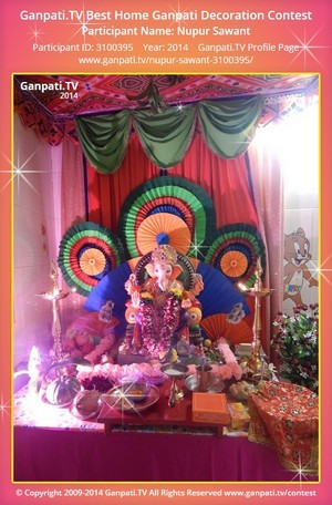 Nupur Sawant Ganpati Decoration