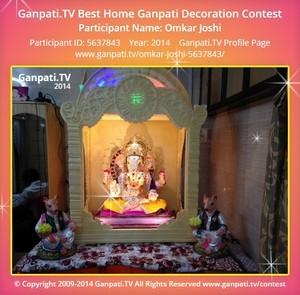 Omkar Joshi Ganpati Decoration