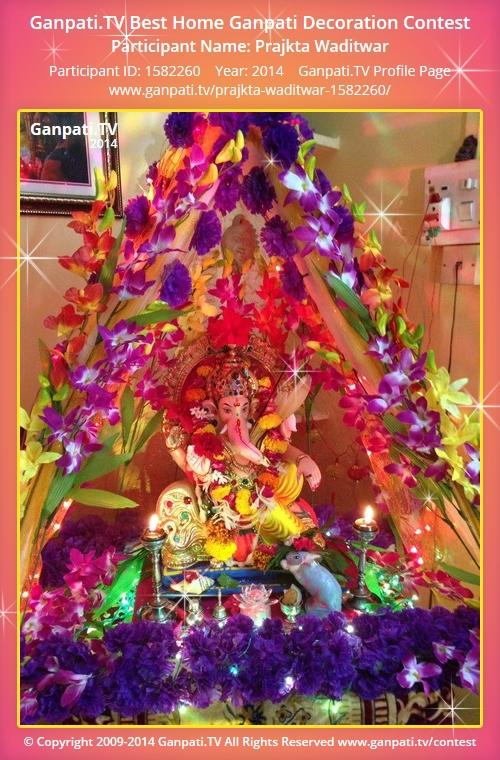 Prajkta waditwar ganpati tv for Artificial flowers decoration for ganpati at home