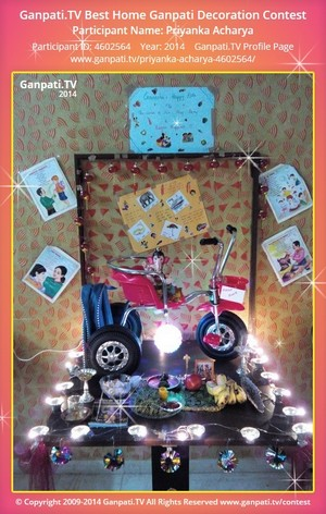 Priyanka Acharya Ganpati Decoration