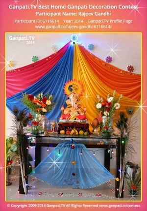 Rajeev Gandhi Ganpati Decoration